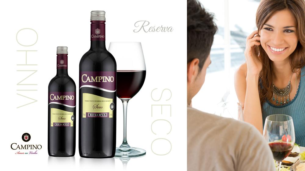 Vinho Bordô Seco Campino